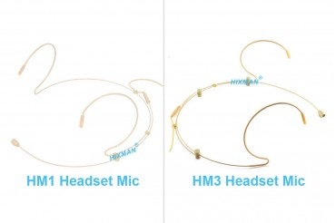 What are different HIXMAN HM1 and HM3 Miniature Headset Microphone?