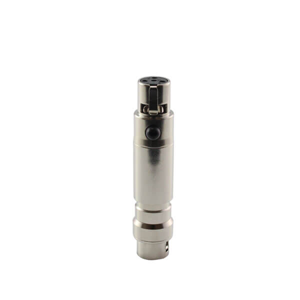 HIXMAN CA801 Convert Adapter For Audio Technica 4-Pin Hirose to Shure Line 6 Carvin TOA TA4F Wireless Bodypack Transmitter