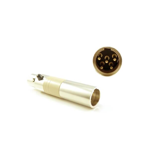 HIXMAN CA702 Convert Adapter For Lectrosonics TA5F to Shure Line 6 Carvin JTS TOA TA4F Wireless Bodypack Transmitter