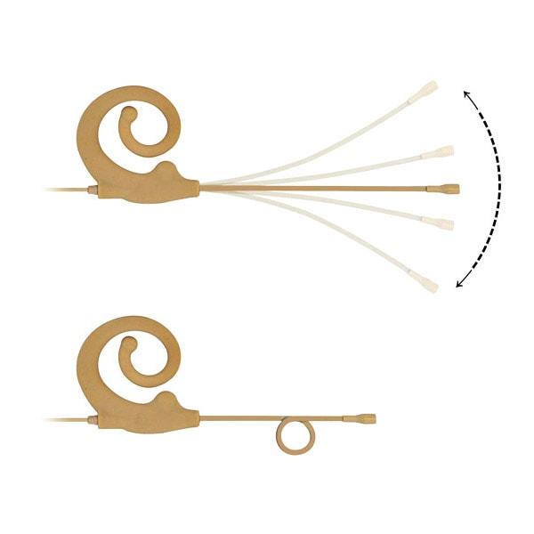 HIXMAN ME6 Snail Ear Hang Earset Single Headset Microphone For akg audio technica sennheiser shure sony lectrosonics carvin electro voice telex jts line 6 mipro peavey samson wisycom zaxcom anchor audio audio2000s beyerdynamic vocopro Wireless Microphone
